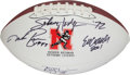 Football Collectibles:Balls, Huskers and Sooners Heisman Winners Multi Signed Football - Benefitting A. W. Brown Education Foundation.. ...