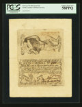 Colonial Notes:South Carolina, South Carolina February 8, 1779 $50 Uncut Pair PCGS Choice AboutNew 58PPQ.. ...