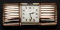 Timepieces:Other , Swiss, E. Gübelin Sterling Silver & Rose Gold Purse Watch. ...