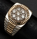 Estate Jewelry:Rings, Gent's Vintage Rolex Style Diamond Ring. ...