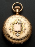 Timepieces:Pocket (post 1900), Waltham 14k Multi-Color Gold Hunter's Case Pocket Watch. ...