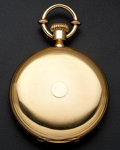 "Timepieces:Pocket (post 1900), Swiss M. Ducommun ""Locle"" Heavy 18k Gold Hunter's Case PocketWatch. ..."