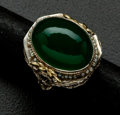 Estate Jewelry:Rings, Antique Jade Gold Filigree Ring . ...