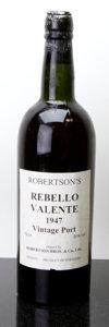 Port/Madeira/Misc Dessert, Robertson Vintage Port 1947 . Rebello Valente. Bottle (1).... (Total: 1 Btl. )