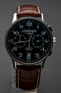 Timepieces:Wristwatch, Longines Olympic Collection Chronograph Wristwatch. ...