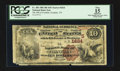 National Bank Notes:Tennessee, Franklin, TN - $10 1882 Brown Back Fr. 485 The NB of Franklin Ch. #(S)1834. ...