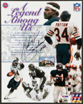 "Football Collectibles:Photos, Walter Payton ""Sweetness 16,726"" Signed Photograph...."
