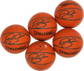 Basketball Collectibles:Balls, Ray Allen Signed Mini Basketballs Lot of 5. ...