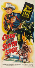 """Movie Posters:Western, Code of the Silver Sage (Republic, 1950). Three Sheet (41"""" X 80""""). Western.. ..."""