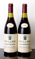 Red Burgundy, Clos de la Roche 1985 . P. Bouree . 2lbsl, 1tl, 1nc, 1sdc,1ssos. Bottle (2). ... (Total: 2 Btls. )