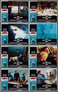 "Jaws (Universal, 1975). Lobby Card Set of 8 (11"" X 14""). Horror. ... (Total: 8 Items)"
