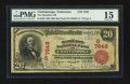 National Bank Notes:Tennessee, Chattanooga, TN - $20 1902 Red Seal Fr. 639 The Hamilton NB Ch. #(S)7848. ...