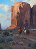 Western:Contemporary, MARTIN GRELLE (American, 1954). Three Generations, 1990. Oil on canvas. 40 x 30 inches (101.6 x 76.2 cm). Signed and dat...