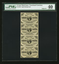 Fractional Currency:Third Issue, Fr. 1226 3¢ Third Issue Uncut Vertical Strip of Four PMG Extremely Fine 40.. ...