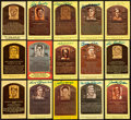Autographs:Post Cards, Baseball Hall Of Fame Plaque Collection Of 15....