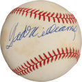 "Autographs:Baseballs, Ted Williams Single Signed ""UDA"" Baseball. ..."