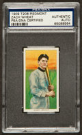 Autographs:Sports Cards, Signed 1909-11 T206 Piedmont Zach Wheat Tobacco Card. ...