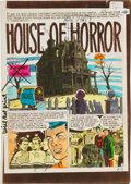 "Memorabilia:Comic-Related, The Haunt of Fear #1 ""House of Horror"" Silverprint Color GuideGroup (EC, 1950).... (Total: 6 Items)"