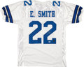 Football Collectibles:Uniforms, Emmitt Smith Signed Dallas Cowboys Jersey. ...
