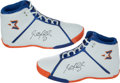 Basketball Collectibles:Others, Stephon Marbury Dual Signed Shoes....