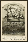 Baseball Collectibles:Others, Ed Walsh Signed Black and White Hall of Fame Plaque Postcard. ...
