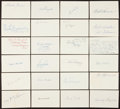 Autographs:Index Cards, Baseball Index Card Signed Lot of Approximately 725....