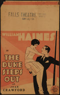 "Movie Posters:Sports, The Duke Steps Out (MGM, 1929). Window Card (14"" X 22""). Sports.. ..."