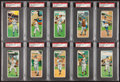 Baseball Cards:Lots, 1955 Topps Double Headers PSA-Graded Collection (10). ...