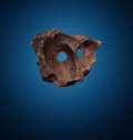 Meteorites:Palasites, GIBEON MASK - AN INCOMPARABLE IRON METEORITE. Iron, fineoctahedrite - IVA . Great Nama Land, Namibia - (25° 30'S,18°...