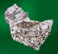 """COMPLETE TRANSITIONAL SLICE OF SEYMCHAN METEORITE FROM THE COLLECTION OF TELEVISION'S """"METEORITE MEN"""" Pallasit..."""