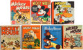 Big Little Book:Miscellaneous, Big Little Book Mickey Mouse Group (Whitman, 1930s) Condition:Average VF.... (Total: 7 Comic Books)