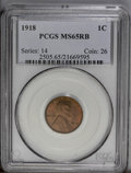 Lincoln Cents: , 1918 1C MS65 Red and Brown PCGS. PCGS Population (30/2). NGCCensus: (47/4). Mintage: 288,104,640. Numismedia Wsl. Price: $...