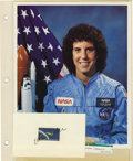 Explorers:Space Exploration, Lot of Ten Astronaut and Aviator Signatures, including: DonaldMcGonagle, Jeana Yeager, Dick Rutan, Bruce Melnick, Ellen (Sh...(Total: 10 Item)