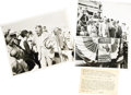 Transportation:Aviation, Photographs of Dr. Hugo Eckener at the 1929 Cleveland National AirRaces. Two black-and-white press photographs of Dr. Hugo ...(Total: 3 Item)
