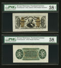 Fractional Currency:Third Issue, Fr. 1331SP 50¢ Third Issue Spinner Wide Margin Pair PMG Choice About Unc 58EPQ and Choice About Unc 58.. ... (Total: 2 notes)