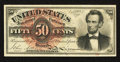 Fr. 1374 50¢ Fourth Issue Lincoln About New