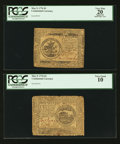 Colonial Notes:Continental Congress Issues, Continental Currency May 9, 1776 $4 PCGS Very Good 10. ContinentalCurrency May 9, 1776 $5 PCGS Apparent Very Fine 20.. ... (Total: 2notes)