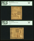 Colonial Notes:Pennsylvania, Pennsylvania April 3, 1772 18d Two Examples PCGS Very Fine 30.. ...(Total: 2 notes)