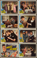 "Movie Posters:Comedy, Hello Sucker (Universal, 1941). Lobby Card Set of 8 (11"" X 14"").Comedy.. ... (Total: 8 Items)"