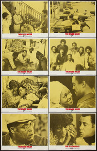 "The River Niger and Other Lot (Cine Artists Pictures, 1976). Lobby Card Set of 8 (11"" X 14"") and Mini Lobby Ca..."