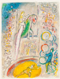 Prints:European Modern, MARC CHAGALL (Belorussian, 1887-1985). Le Cirque, 1967.Color lithograph. 16-3/4 x 12-3/4 inches (42.4 x 32.5 cm). H.C.,...