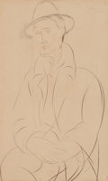 Impressionism & Modernism:Cubism, AMEDEO MODIGLIANI (Italian, 1884-1920). Portrait de Sola,1918/1919. Graphite on paper. 17 x 10 inches (43.2 x 25.4 cm)...