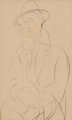 AMEDEO MODIGLIANI (Italian, 1884-1920) Portrait de Sola, 1918/1919 Graphite on paper 17 x 10 inches (43.2 x 25.4 cm)