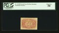 Fractional Currency:Second Issue, Fr. 1314SP 50¢ Second Issue Narrow Margin Back PCGS About New 50.. ...