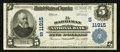 National Bank Notes:Tennessee, Harriman, TN - $5 1902 Plain Back Fr. 606 The Harriman NB Ch. #(S)11915. ...