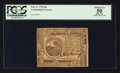 Colonial Notes:Continental Congress Issues, Continental Currency February 17, 1776 $6 PCGS Apparent About New50.. ...