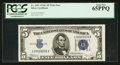Small Size:Silver Certificates, Solid Serial Number L99999999A Fr. 1653 $5 1934C Silver Certificate. PCGS Gem New 65PPQ.. ...