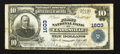 National Bank Notes:Tennessee, Clarksville, TN - $10 1902 Plain Back Fr. 625 The First NB Ch. #1603. ...