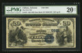 National Bank Notes:Arizona, Clifton, AZ - $20 1882 Date Back Fr. 557 The First NB Ch. # (P)5821. ...