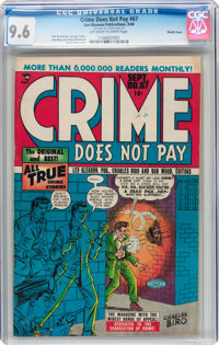 Crime Does Not Pay #67 Double Cover (Lev Gleason, 1948) CGC NM+ 9.6 Off-white to white pages